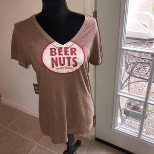 Beer Nuts Tee By Earth Spun Apparel.  Size Large